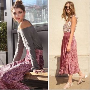Antique Rose Velvet Skirt